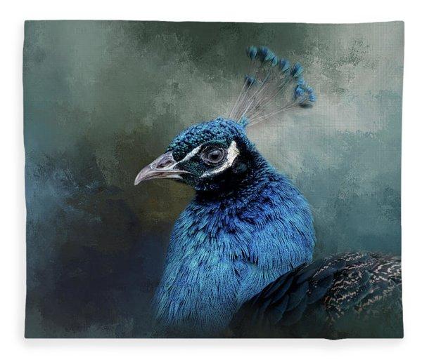 The Peacock's Crown Fleece Blanket
