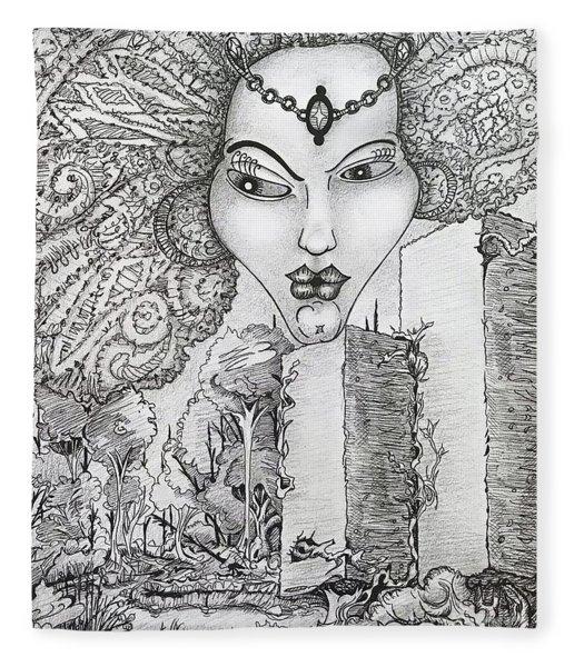 The Queen Of Oz Fleece Blanket