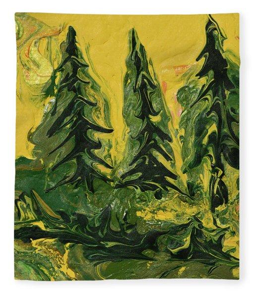 The Quiet Pines Fleece Blanket