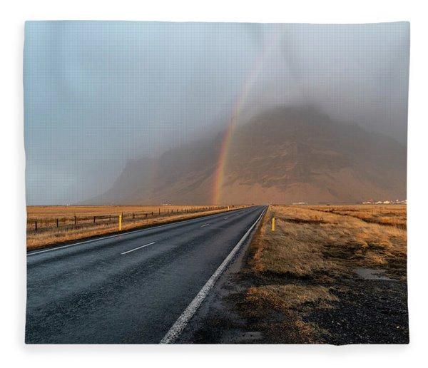 The Rainbow Road Fleece Blanket