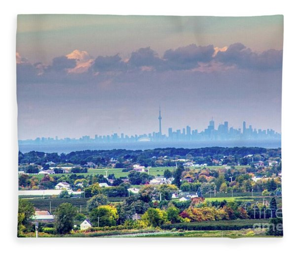 The Toronto Skyline Fleece Blanket