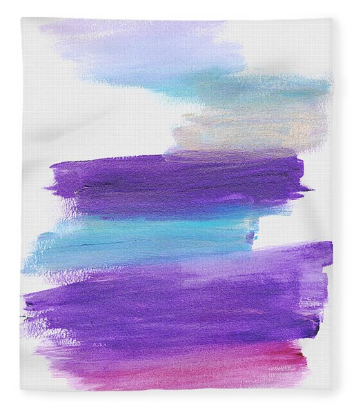 Fleece Blanket featuring the painting The Unconscious Mind by Bee-Bee Deigner