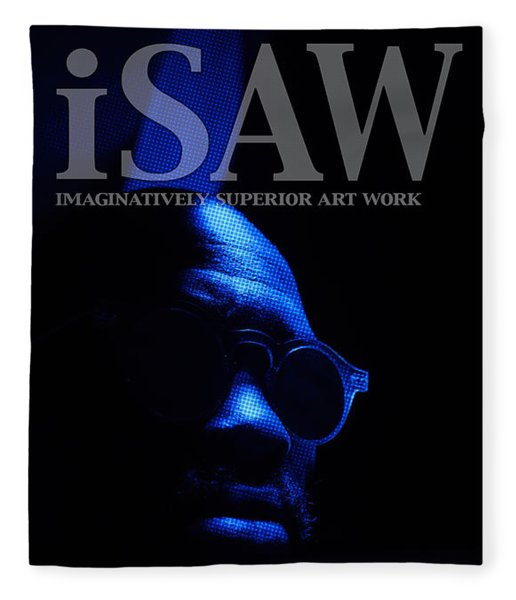 Fleece Blanket featuring the digital art The Underground Artist by ISAW Company