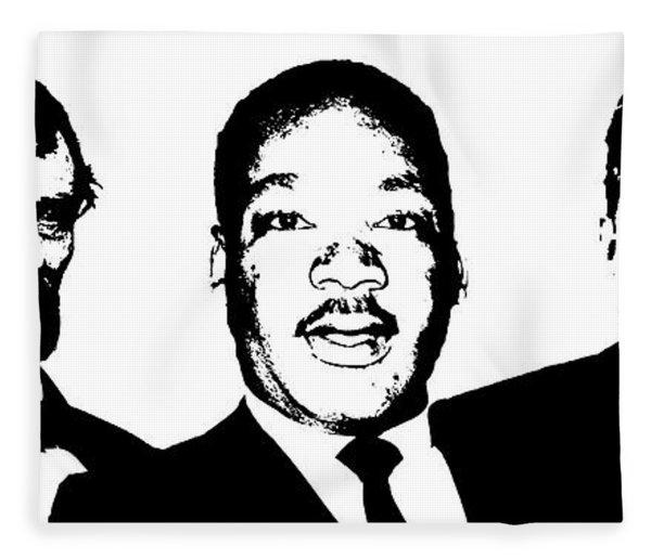 Three Leaders Fleece Blanket