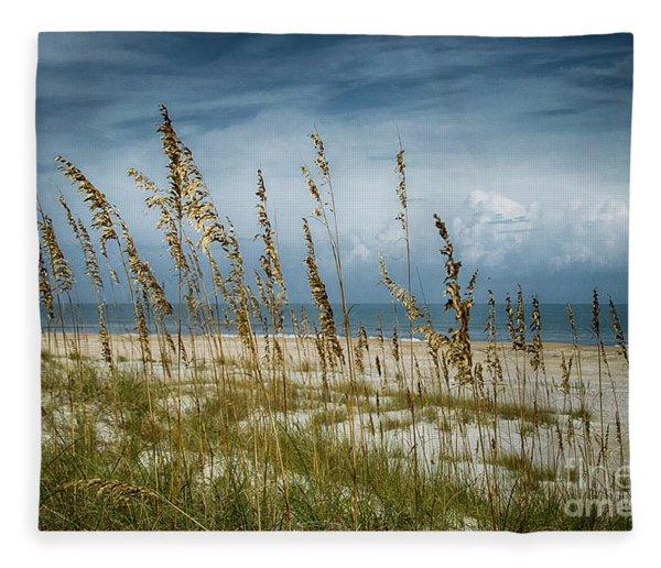 Through The Sea Oats Fleece Blanket