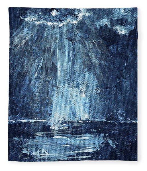 Through The Storm Fleece Blanket