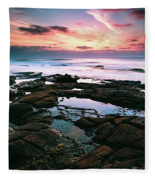 Tide Pools Of La Jolla Fleece Blanket