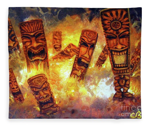 Tiki Hot Spot Fleece Blanket
