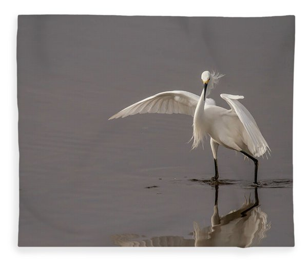 Time To Fish Fleece Blanket