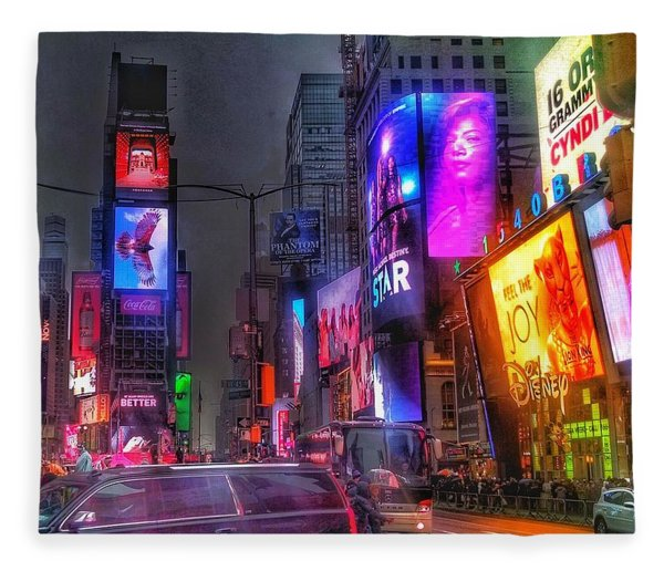 Times Square - The Light Fantastic 2016 Fleece Blanket