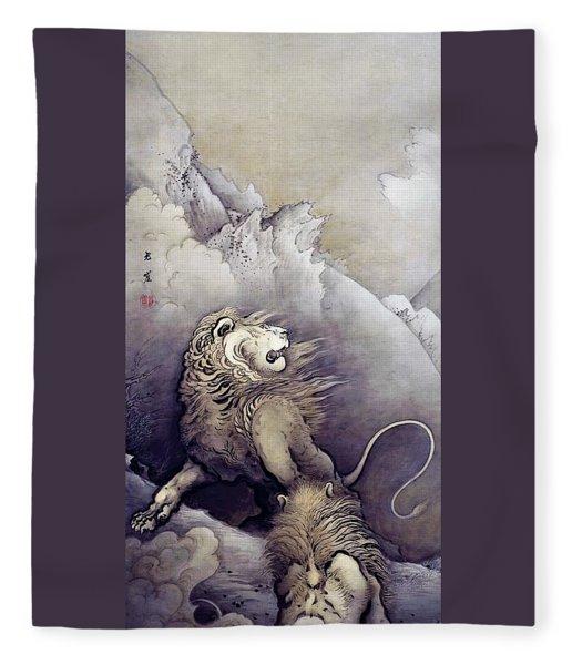 Top Quality Art - Lion Fleece Blanket