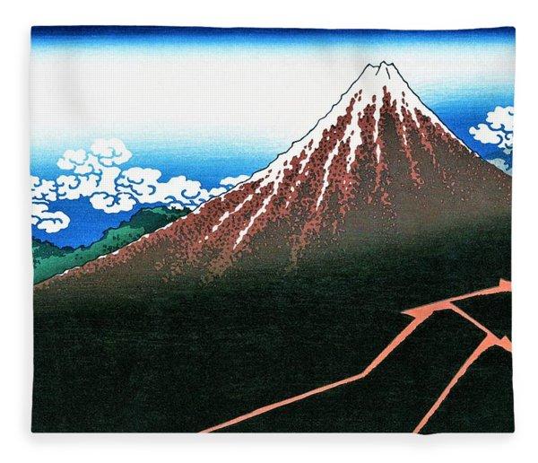 Top Quality Art - Mt,fuji36view-sankahaku Fleece Blanket