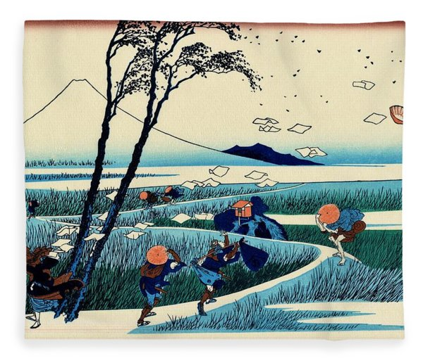 Top Quality Art - Mt,fuji36view-sunshu Ejiri Fleece Blanket