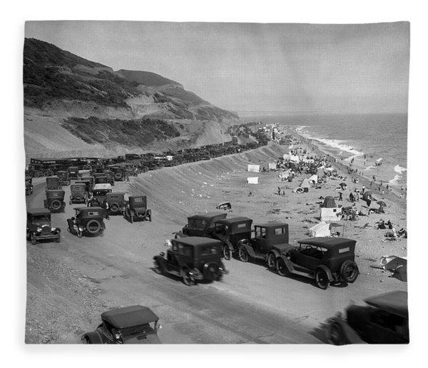 Topanga State Beach 1920 Fleece Blanket