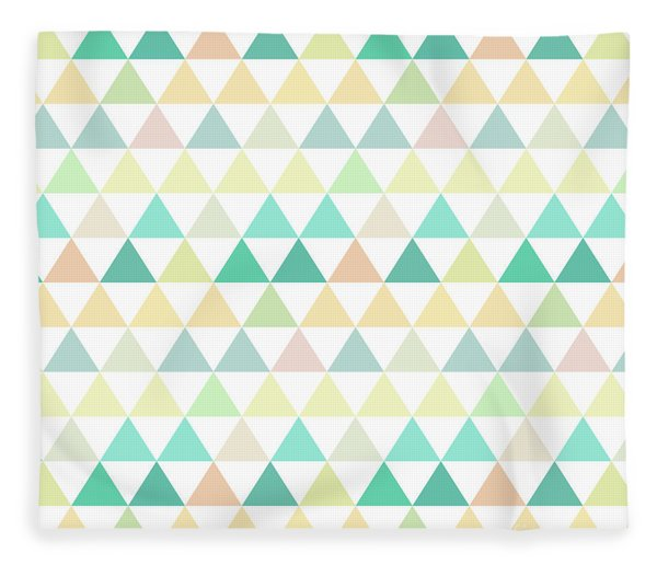 Triangle Abstract Background- Efg204 Fleece Blanket