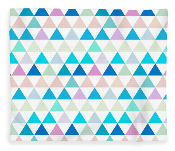 Triangle Abstract Background- Efg206 Fleece Blanket