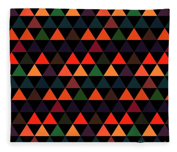 Triangle Abstract Background- Efg208 Fleece Blanket