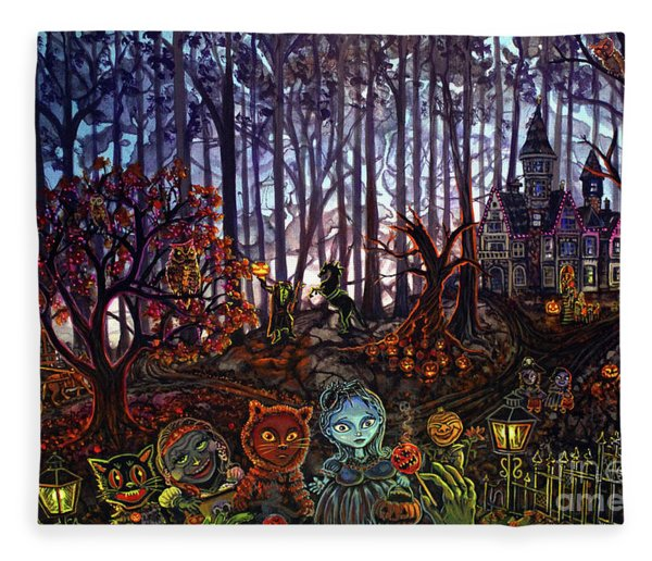 Trick Or Treat Sleepy Hollow Fleece Blanket