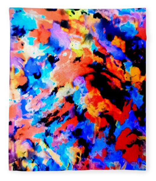 Tropical Carnival Fleece Blanket