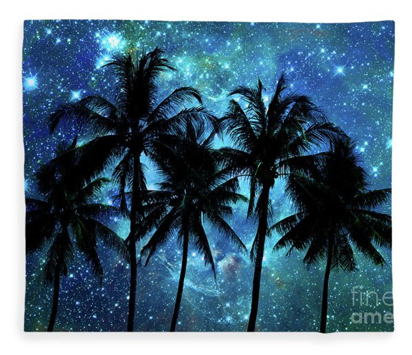 Tropical Night Fleece Blanket