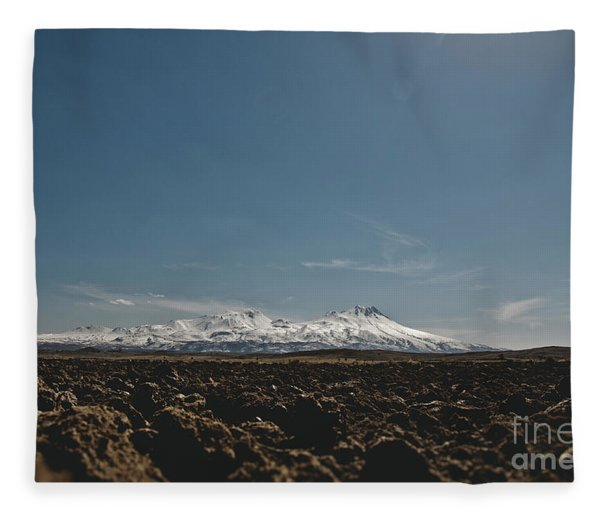 Turkish Landscapes With Snowy Mountains In The Background Fleece Blanket