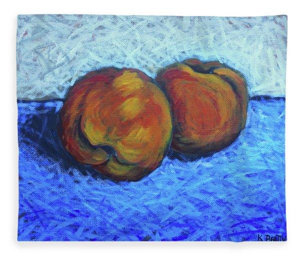 Two Peaches Fleece Blanket