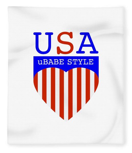 Ubabe Style America Fleece Blanket