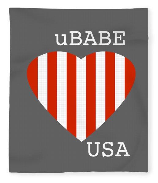 uBABE USA Fleece Blanket