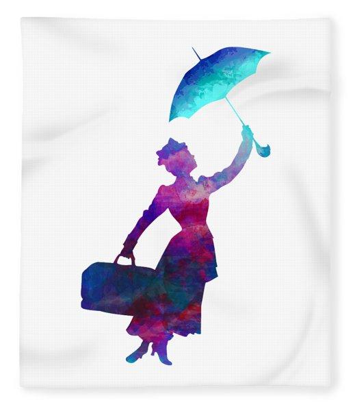 Umbrella Lady Fleece Blanket
