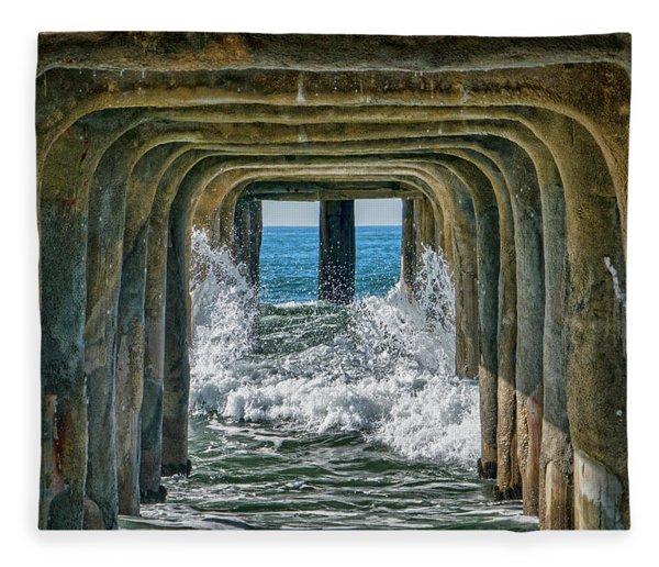 Under The Pier Manhattan Fleece Blanket