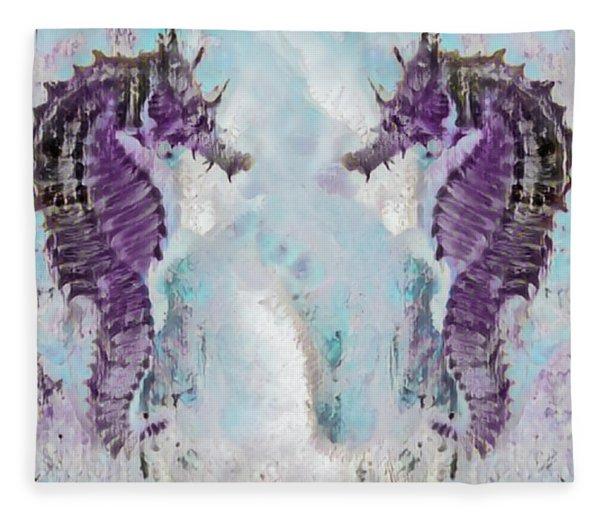 Under The Sea Colorful Watercolor Art #26 Fleece Blanket
