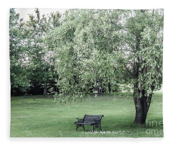 Under The Willow Tree Fleece Blanket