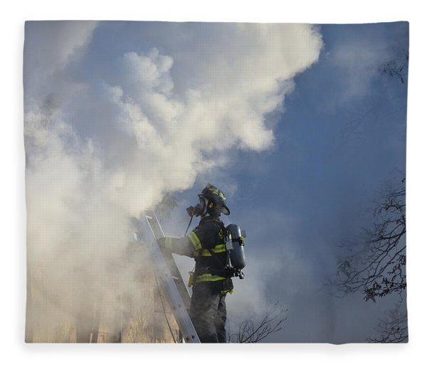 Up In Smoke Fleece Blanket
