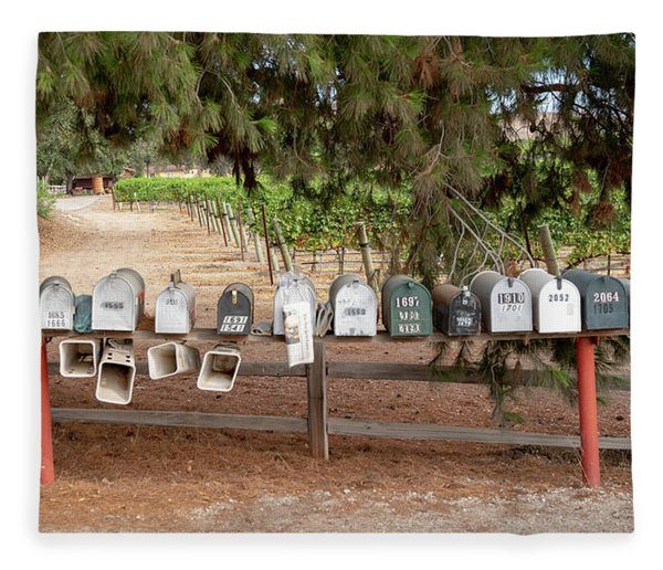 Us Mail Boxes Fleece Blanket