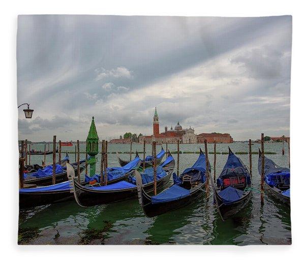 Venice Gondola's Grand Canal Fleece Blanket