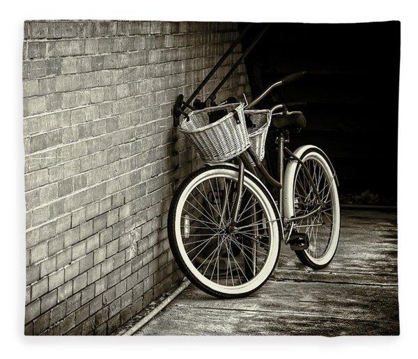 Vintage Bicycles Fleece Blanket