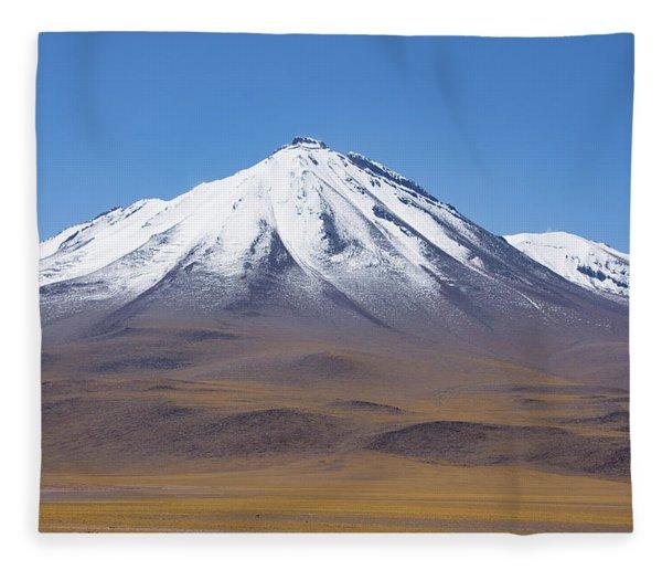 Volcano On The Altiplano Fleece Blanket