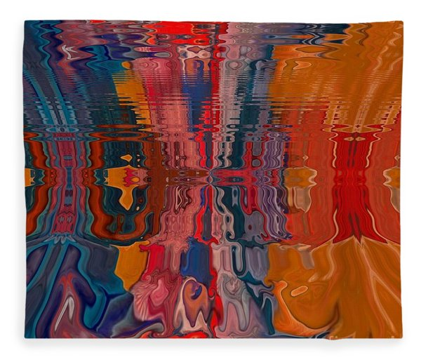 Fleece Blanket featuring the digital art Von Freestyle by A zakaria Mami