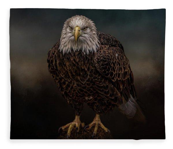 Waiting On The Storm Fleece Blanket