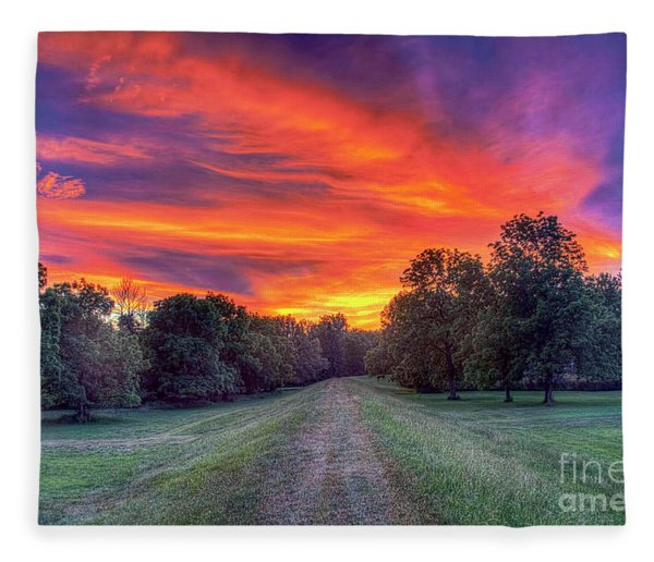 Warm Summer Night Fleece Blanket