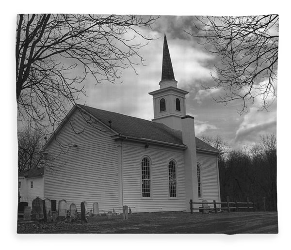 Waterloo United Methodist Church - Back Fleece Blanket
