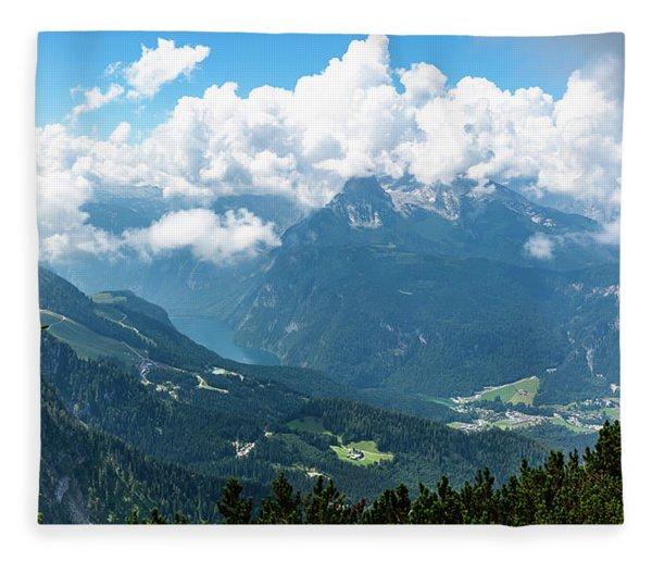 Watzmann And Koenigssee, Bavaria Fleece Blanket