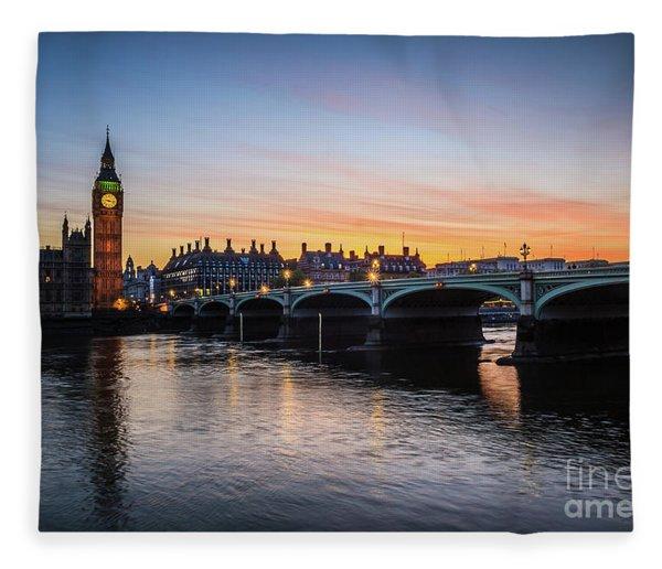 Westminster Sunset Fleece Blanket