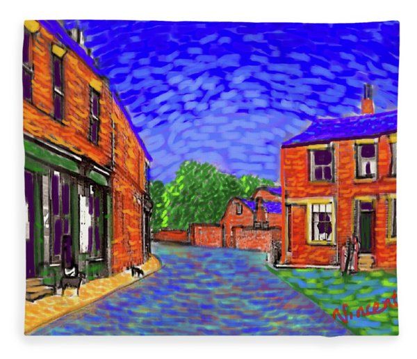 What If...vincent Went To Gildersome Fleece Blanket