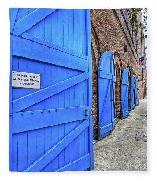 Which Blue Door Fleece Blanket