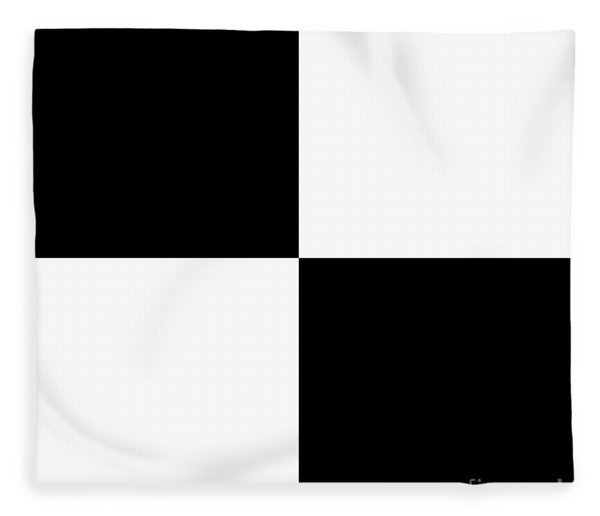 White And Black Squares - Ddh586 Fleece Blanket