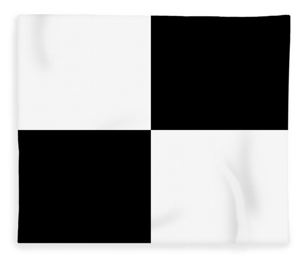 White And Black Squares - Ddh588 Fleece Blanket