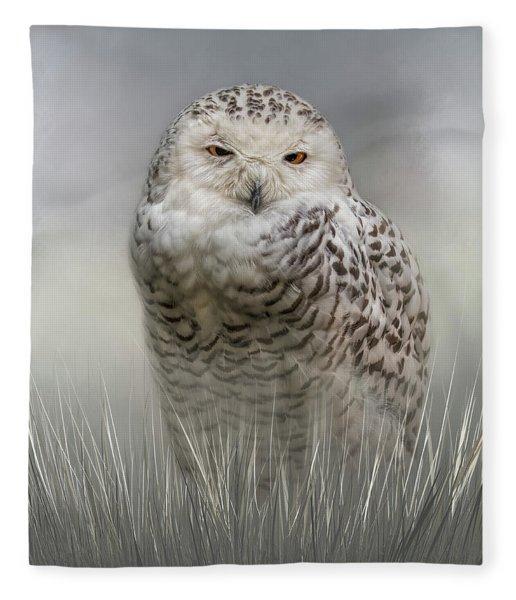 White Beauty In The Field Fleece Blanket