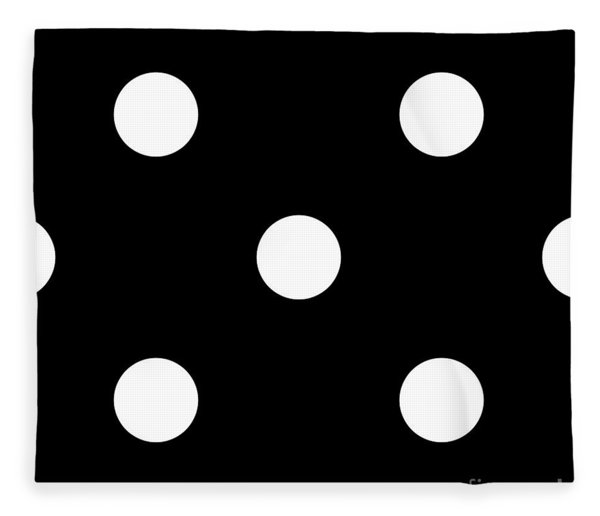 White Dots On A Black Background- Ddh612 Fleece Blanket
