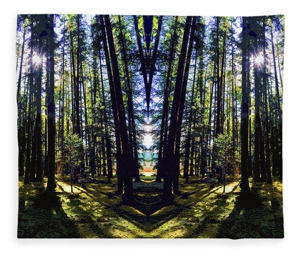 Wild Forest #1 Fleece Blanket